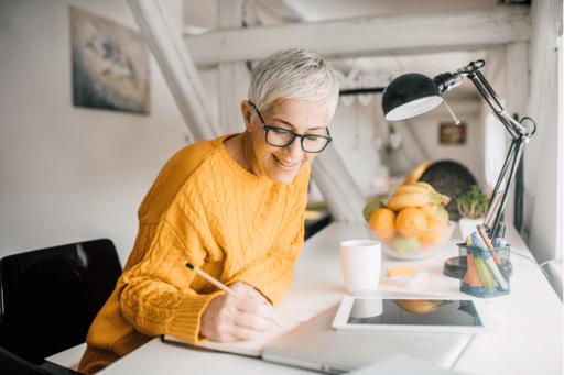 Older woman making an estate plan